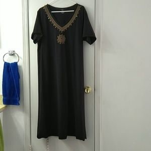Black maxi dress, sz 1X